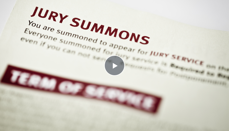 screenshot of jury service video