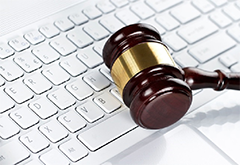 keyboard and gavel image
