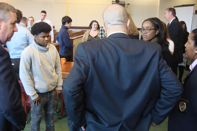 Anne Arundel County High School students attending Schools in the Court program