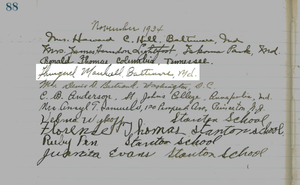 Thurgood Marshall Signature